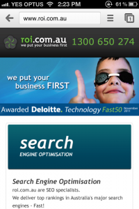 roi.com .au mobile site homepage 200x300 Rise in Mobile Search for roi.com.au During TV Piece